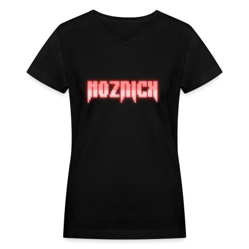 TEXT MOZNICK - Women's V-Neck T-Shirt