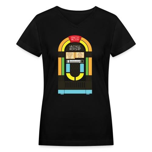 JUKE1 FINAL - Women's V-Neck T-Shirt