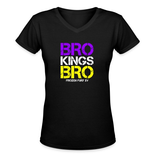 bro kings bro color1 - Women's V-Neck T-Shirt