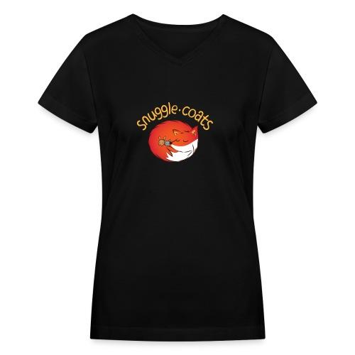 snugglecoats light png - Women's V-Neck T-Shirt