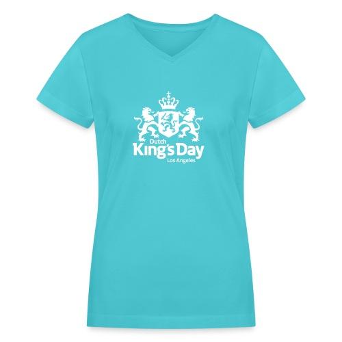 Dutch King's Day LA - Women's V-Neck T-Shirt