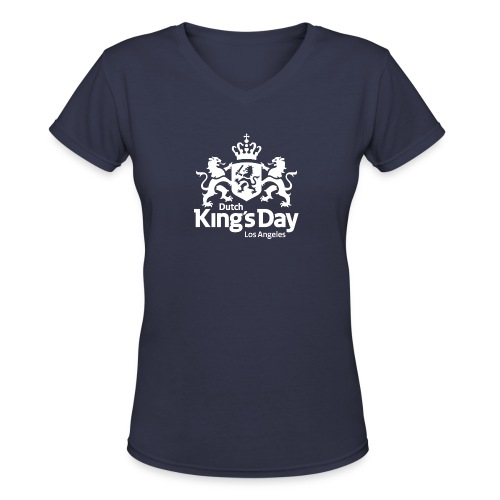 Dutch King's Day LA - Women's V-Neck T-Shirt