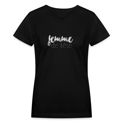 Femme de tête - Women's V-Neck T-Shirt