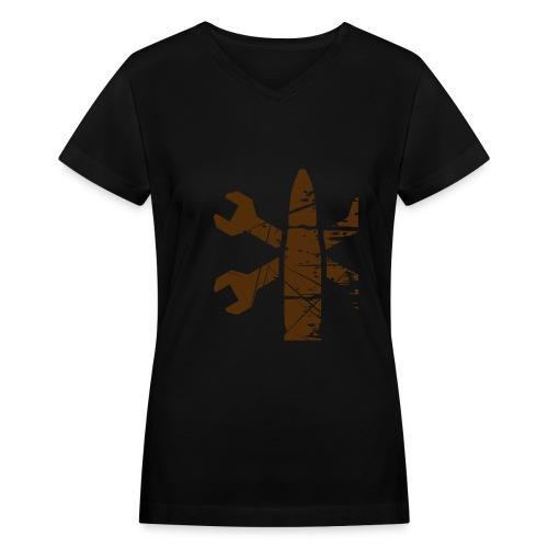 grease-export - Women's V-Neck T-Shirt
