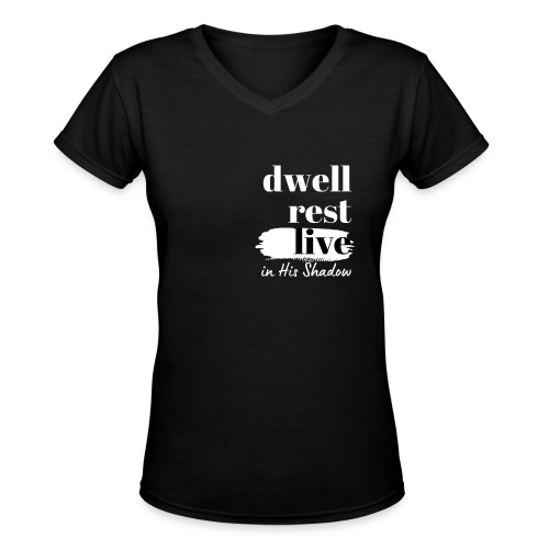 In His Shadow Tee (White) - Women's V-Neck T-Shirt