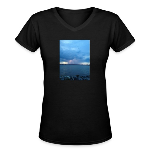 Storm Fall - Women's V-Neck T-Shirt
