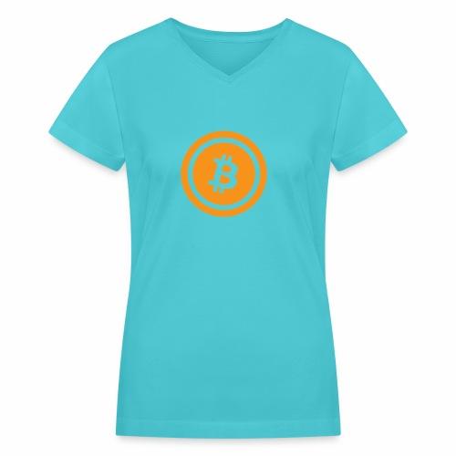Bitcoin branding 45 - Women's V-Neck T-Shirt