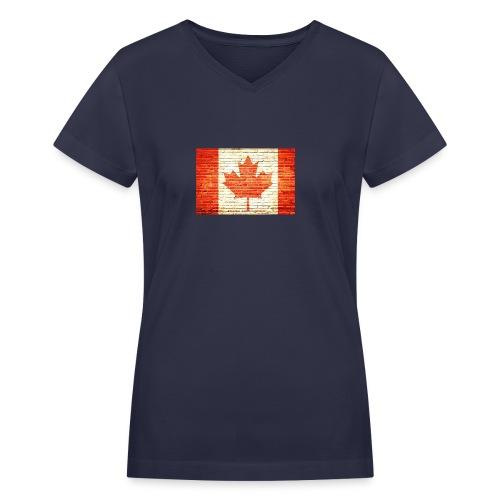 Canada flag - Women's V-Neck T-Shirt