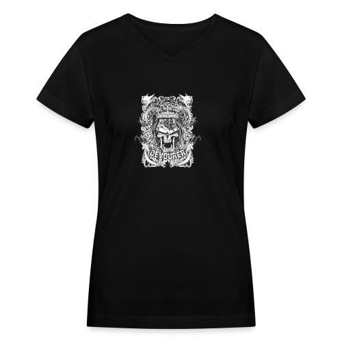 Devourer tshirt design P40Edesign - Women's V-Neck T-Shirt