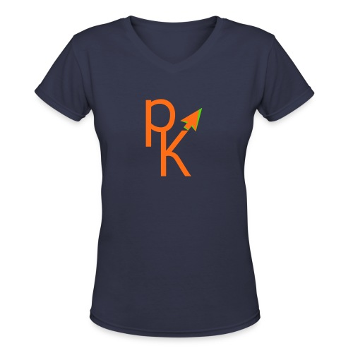 Plusklix Logo - Women's V-Neck T-Shirt