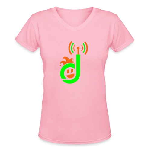 dementiaradiotshirt main just face - Women's V-Neck T-Shirt