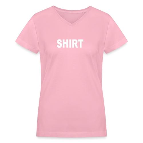 shirt - Women's V-Neck T-Shirt