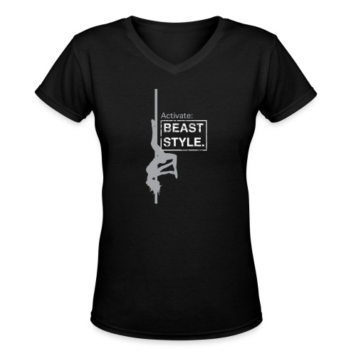 Activate: Beast Style - Women's V-Neck T-Shirt