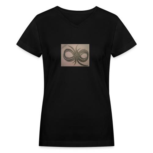 Infinity - Women's V-Neck T-Shirt