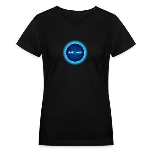 Anyland logo - Women's V-Neck T-Shirt