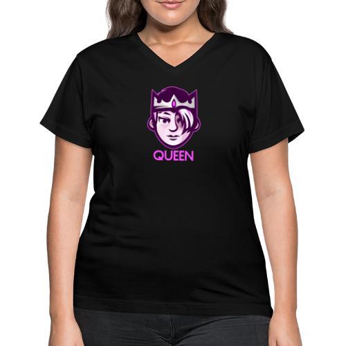 Cool Queen - Women's V-Neck T-Shirt