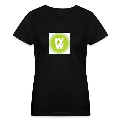 Recover Your Warrior Merch! Walk the talk! - Women's V-Neck T-Shirt