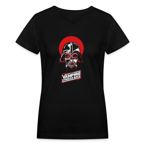 the Vampire Strikes Back - Women's V-Neck T-Shirt