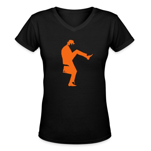 John Cleese Silly Walk - Women's V-Neck T-Shirt