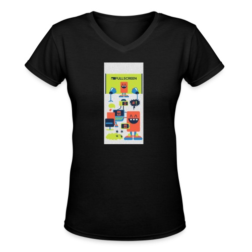 iphone5screenbots - Women's V-Neck T-Shirt