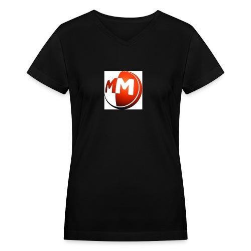 MM logo - Women's V-Neck T-Shirt