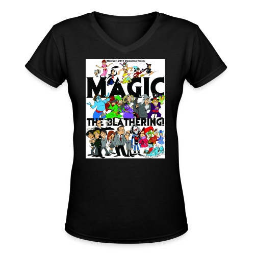 marscon2011tshirtfront - Women's V-Neck T-Shirt