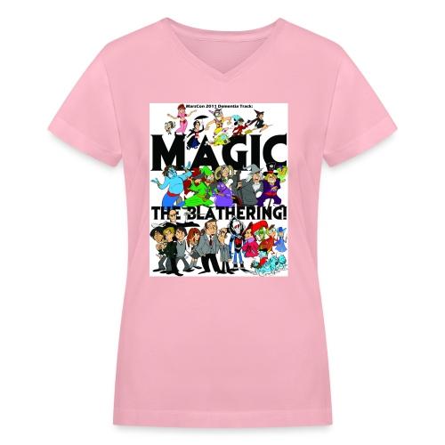 marscon2011tshirtfront - Women's V-Neck T-Shirt