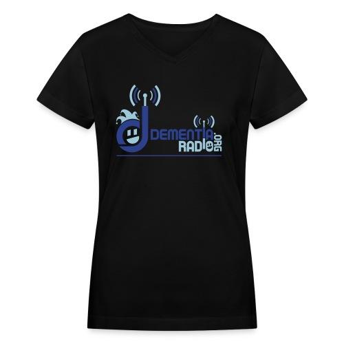 dementiaradiotshirt main - Women's V-Neck T-Shirt