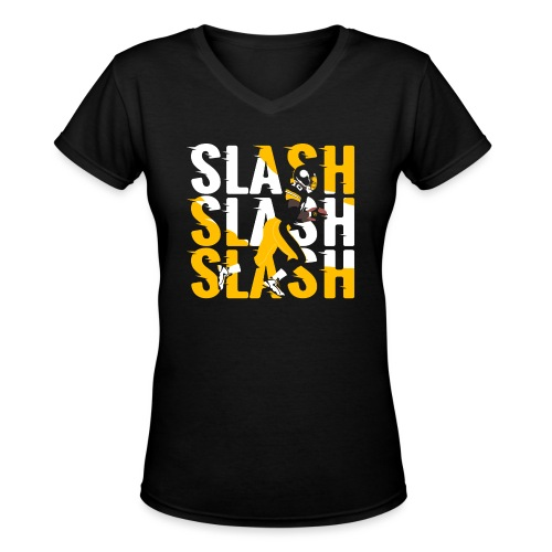 Slash - Women's V-Neck T-Shirt