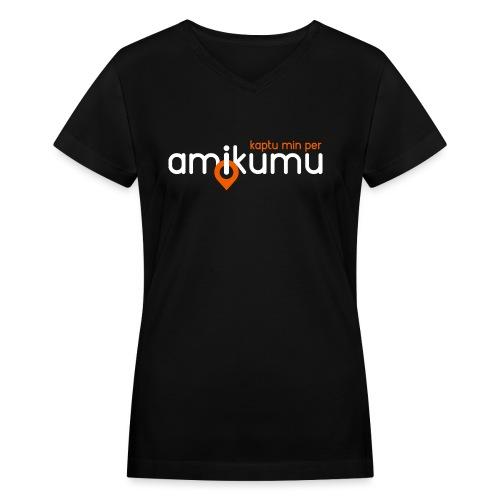 Kaptu min per Amikumu Blanka - Women's V-Neck T-Shirt
