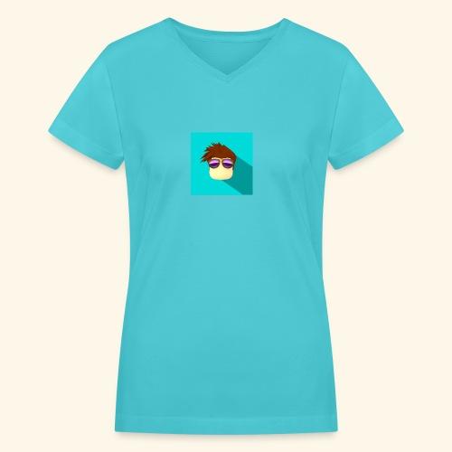 NixVidz Youtube logo - Women's V-Neck T-Shirt