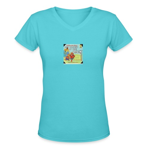 kicked in the dick - Women's V-Neck T-Shirt
