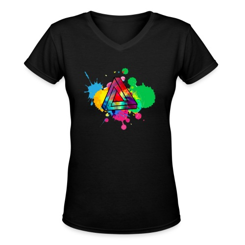 PAINT SPLASH - Women's V-Neck T-Shirt