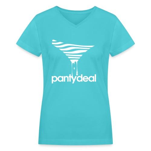 Slip Logo - Women's V-Neck T-Shirt