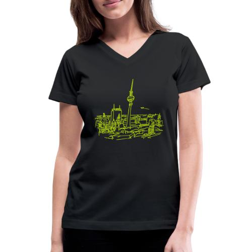 Panorama of Berlin - Women's V-Neck T-Shirt