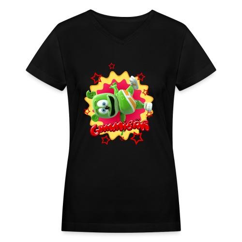 Gummibär Starburst - Women's V-Neck T-Shirt