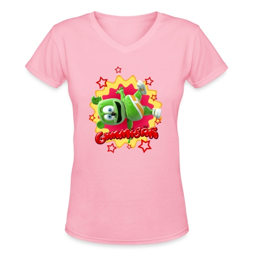 Gummibär Starburst - Women's V-Neck T-Shirt