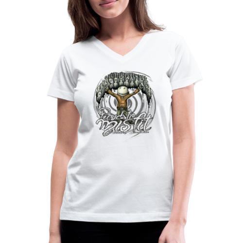 proud to misfit - Women's V-Neck T-Shirt