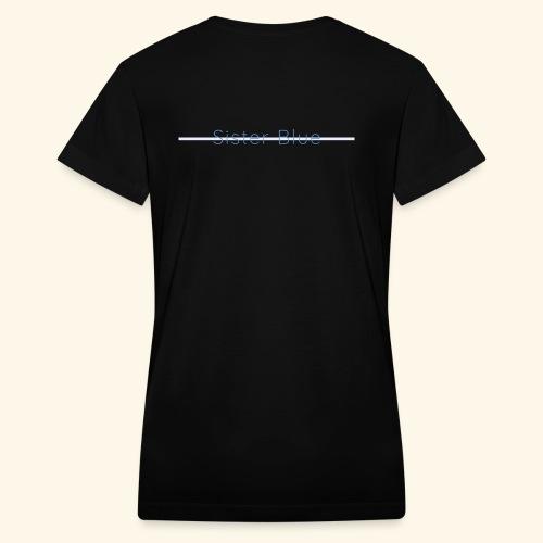 Sister Blue - Women's V-Neck T-Shirt