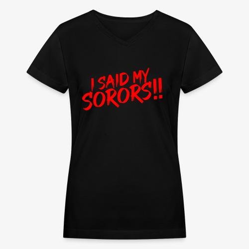 My Sorors Red - Women's V-Neck T-Shirt