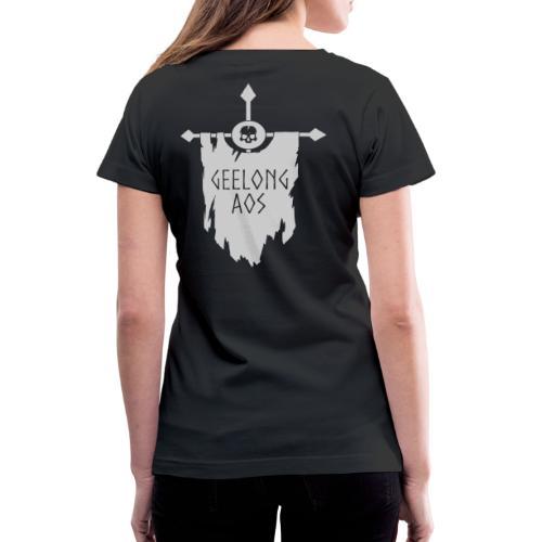 Geelong AOS - DEATH BLACK - Women's V-Neck T-Shirt