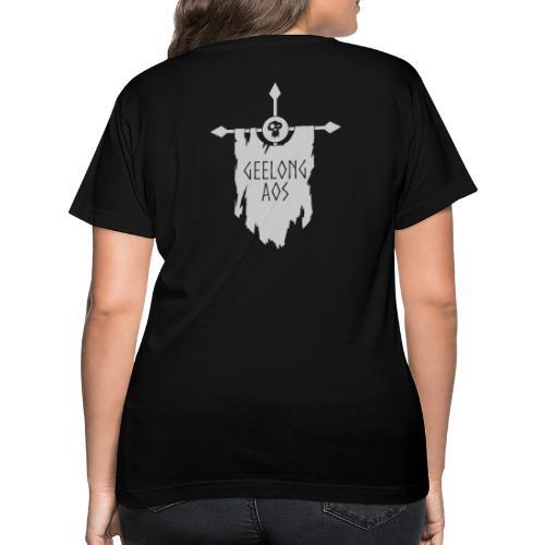 Geelong AOS - DESTRUCTION BLACK - Women's V-Neck T-Shirt
