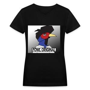 Fowl Original Logo - Women's V-Neck T-Shirt