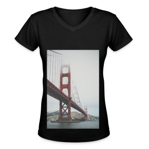 Golden Gate Bridge - Women's V-Neck T-Shirt