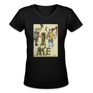 A pens two back to back on the attack - Women's V-Neck T-Shirt