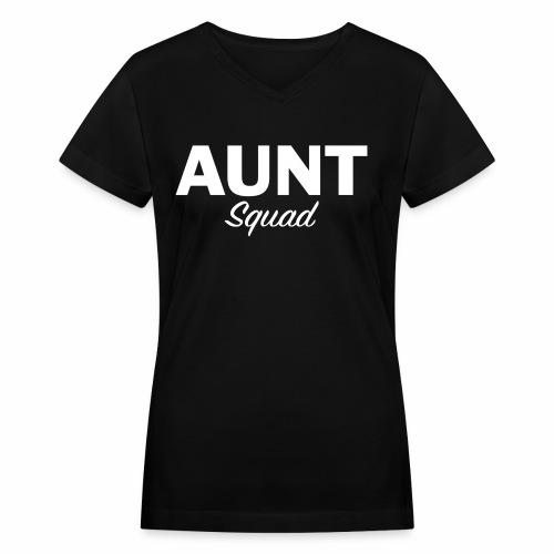 Aunt Squad - Women's V-Neck T-Shirt