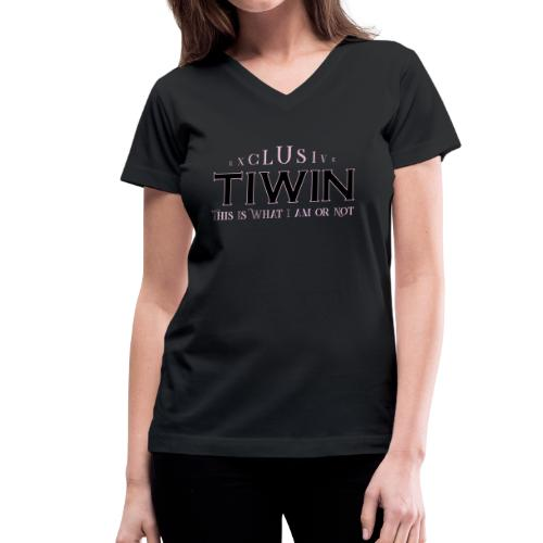 EXCLUSIVE TIWIN rose - Women's V-Neck T-Shirt