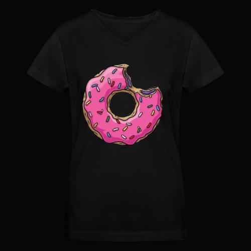 Sprinkled Donut - Women's V-Neck T-Shirt