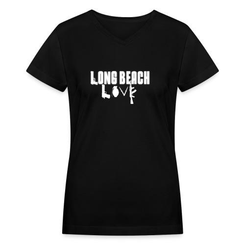 Long Beach Love - Women's V-Neck T-Shirt