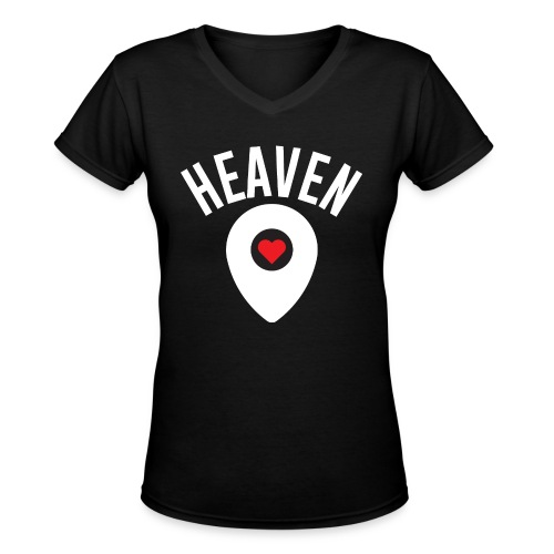 Heaven Is Right Here - Women's V-Neck T-Shirt